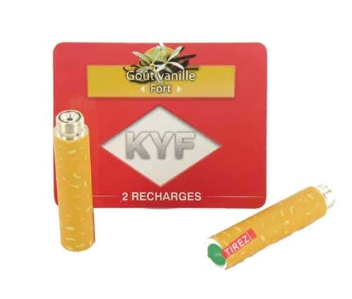2 Recharges Go�t Vanille nicotine fort Cigarette KYF