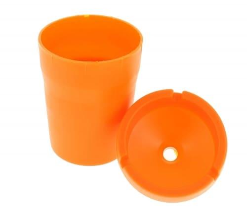 Cendrier exterieur design orange