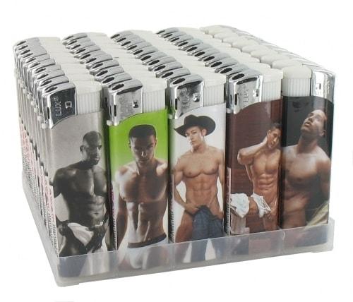 50 Briquets Electroniques Sexy Man