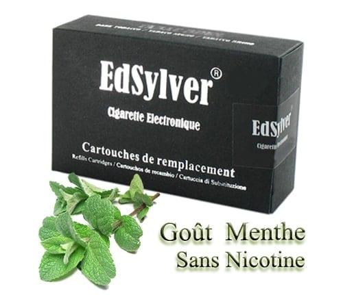 5 Recharges Goût Menthe sans nicotine Cigarette Edsylver