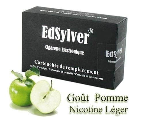 5 Recharges Goût Pomme nicotine léger Cigarette Edsylver
