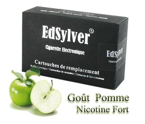 5 Recharges Goût Pomme nicotine fort Cigarette Edsylver