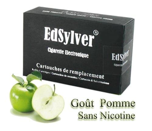5 Recharges Go�t Pomme sans nicotine Cigarette Edsylver