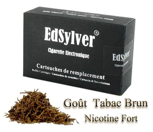 5 Recharges Go�t Tabac Brun nicotine fort Cigarette Edsylver