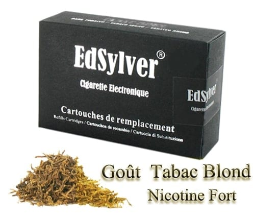 5 Recharges Goût Tabac Blond nicotine fort Cigarette Edsylver