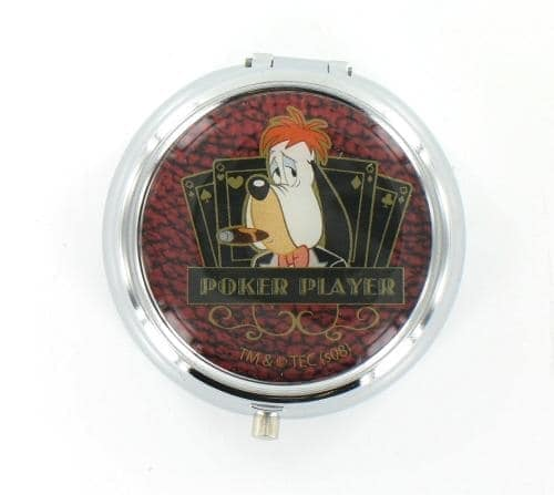 Cendrier de poche Droopy Poker Player Rouge