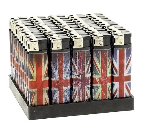 50 Briquets Electroniques Union Jack
