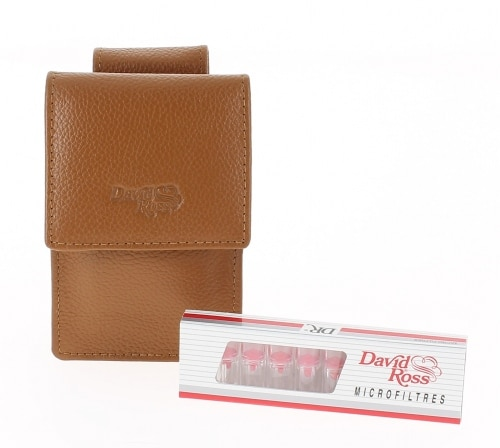 Etui cigarette et filtre David Ross Caramel